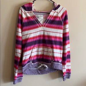 American Eagle Outfitters Tie Waist V Neck Hoodie